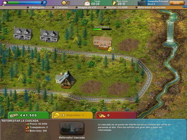 Build-a-lot: On Vacation en Español game