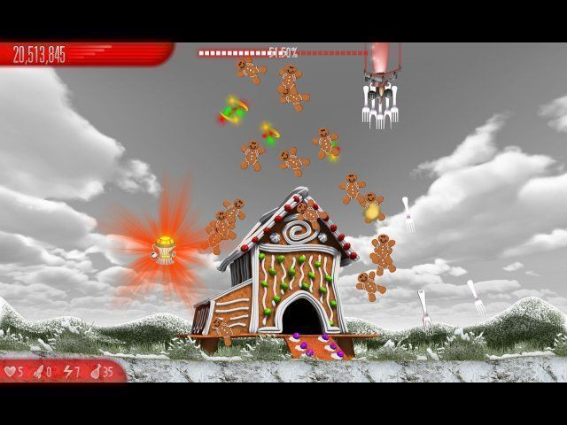 Chicken Invaders 5: Cluck of the Dark Side. Christmas Edition en Español game